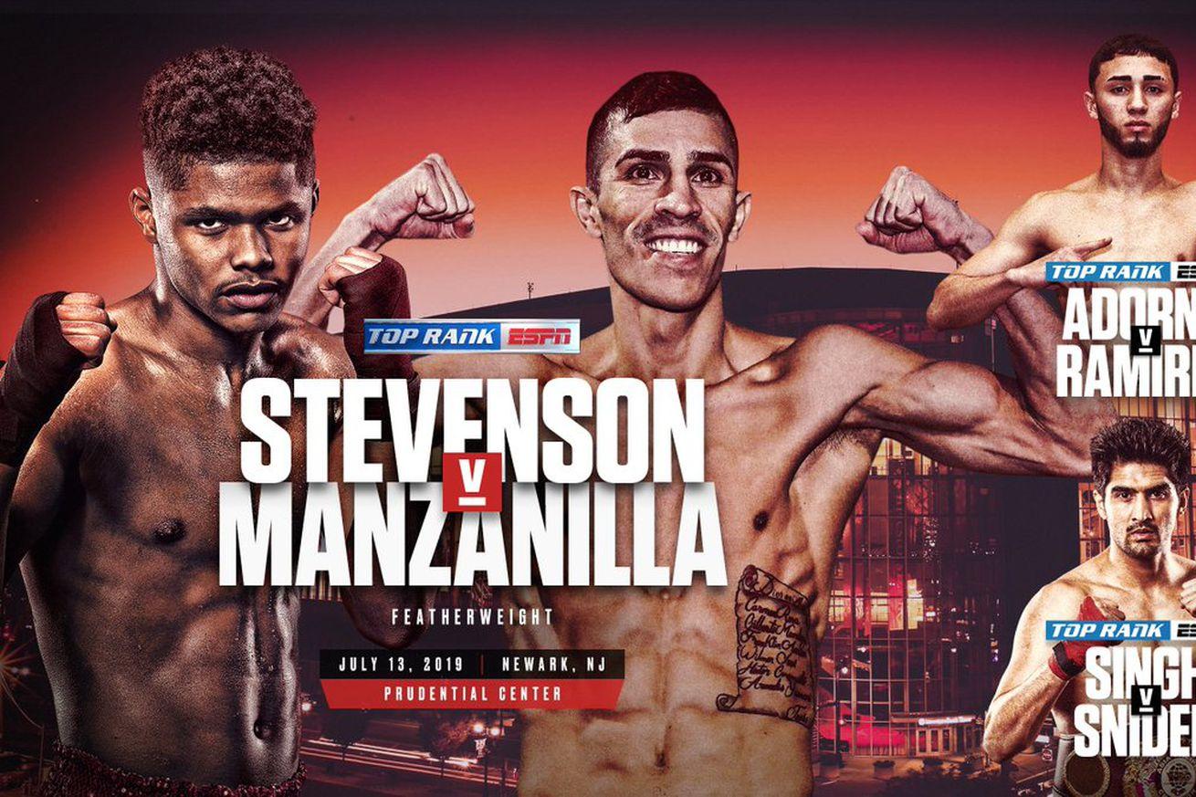 D97PS3YVAAAoYb1.0 - Manzanilla steps in against Stevenson on July 13th