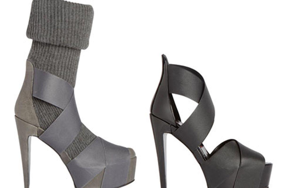 "Bruno Frisoni's sock stilettos via <a href=""http://www.style.com/stylefile/2010/04/knock-your-socks-off/"">Style File</a>"