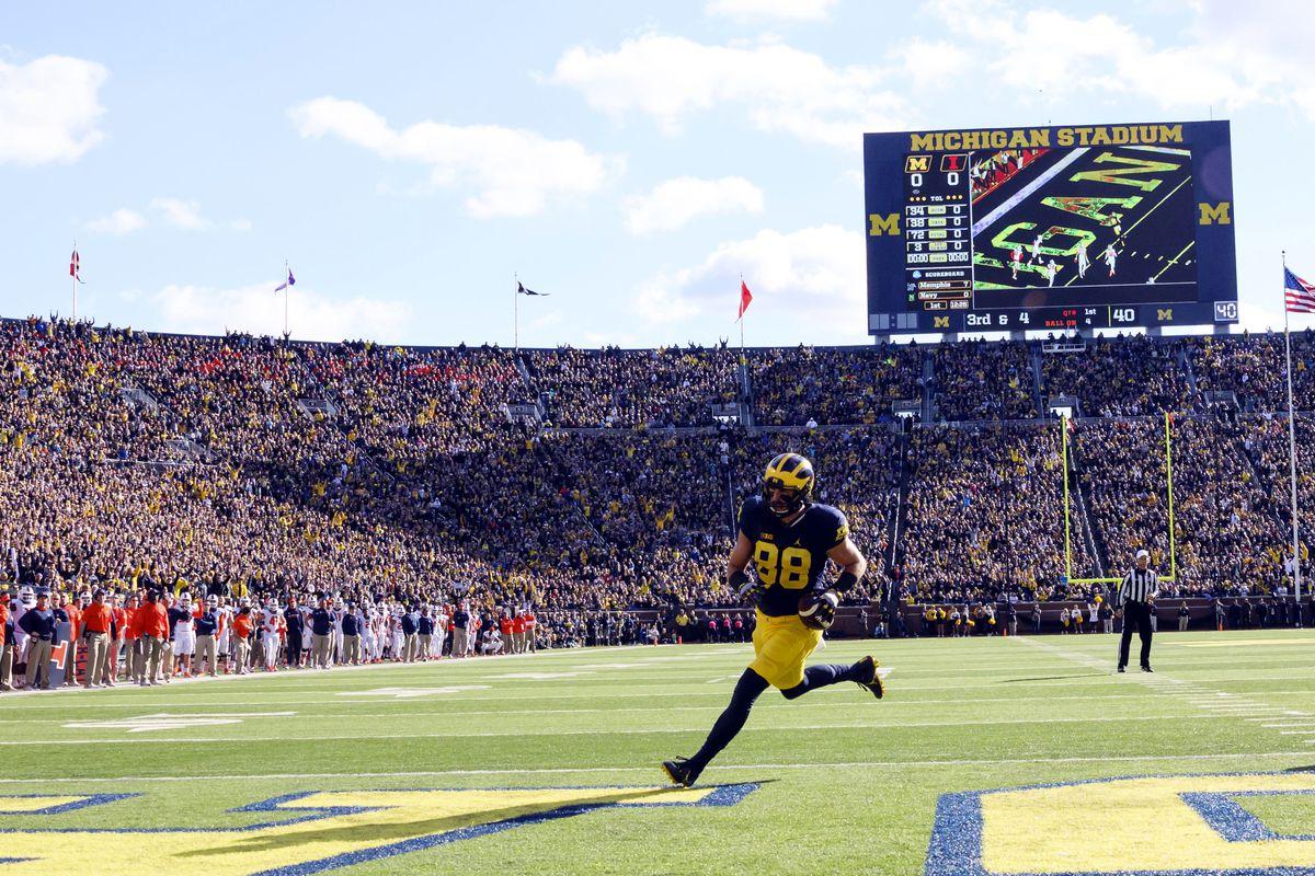 NCAA Football: Illinois at Michigan