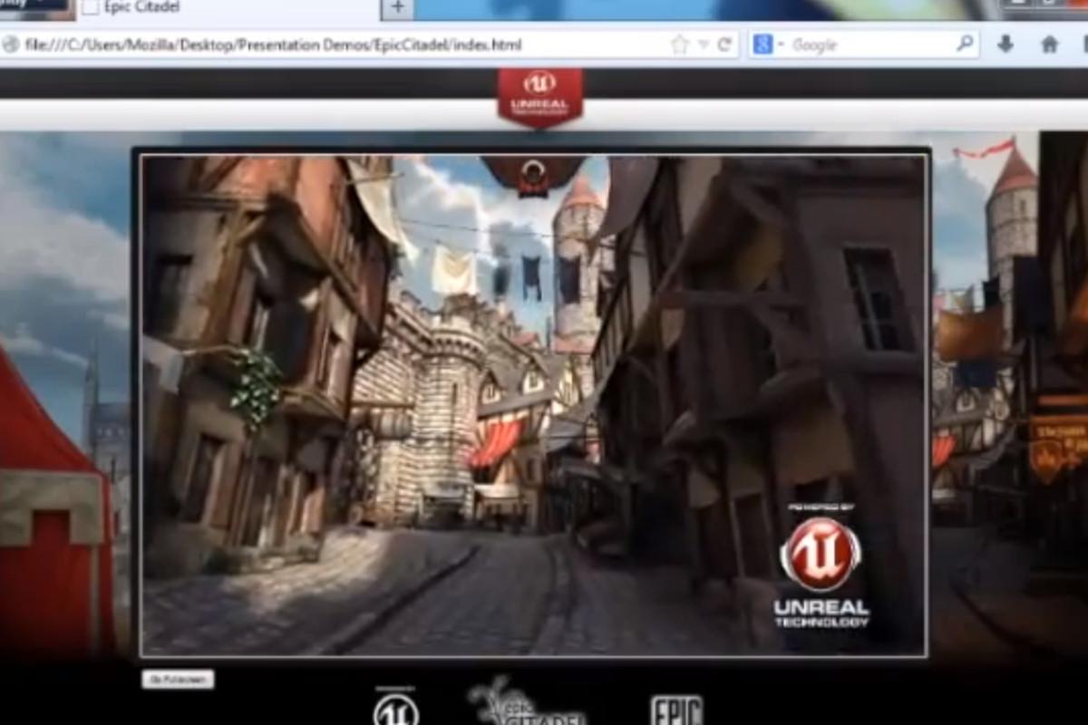 Unreal Engine Mozilla browser demo