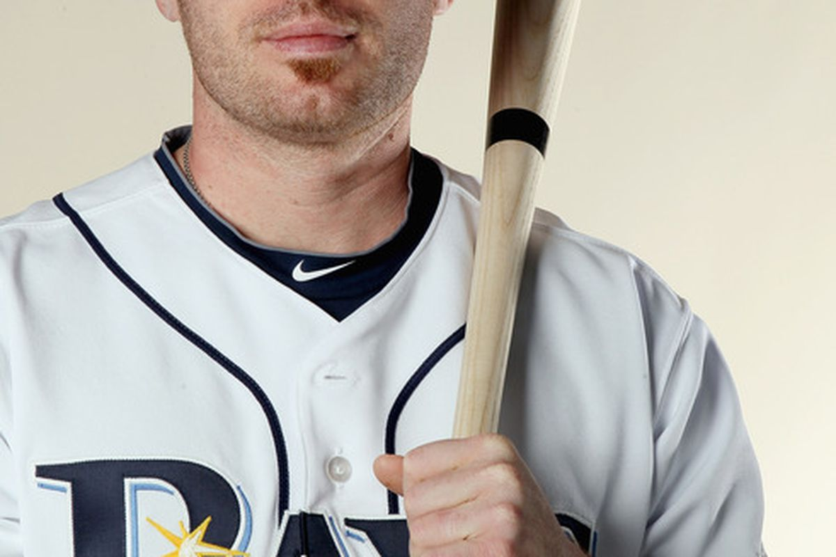 FT. MYERS FL - FEBRUARY 22:  Joe Inglett #79 of the Tampa Bay Rays poses for a portrait during the Tampa Bay Rays Photo Day on February 22 2011 at the Charlotte Sports Complex in Port Charlotte Florida.  (Photo by Elsa/Getty Images)