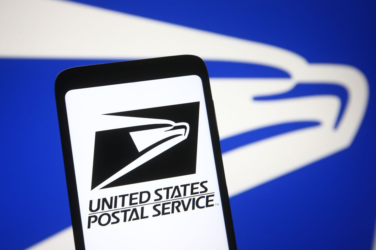 In this photo illustration the United States Postal Service...