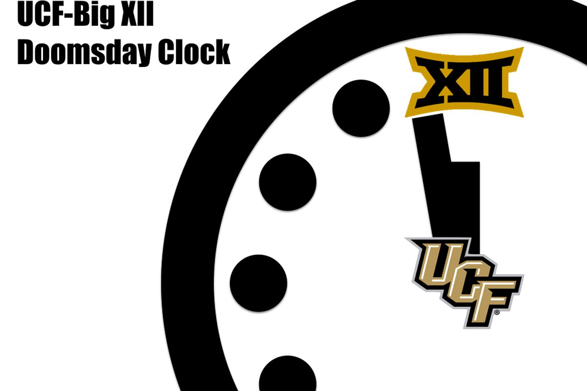 The UCF-Big XII Doomsday Clock just got moved up to two minutes to midnight.