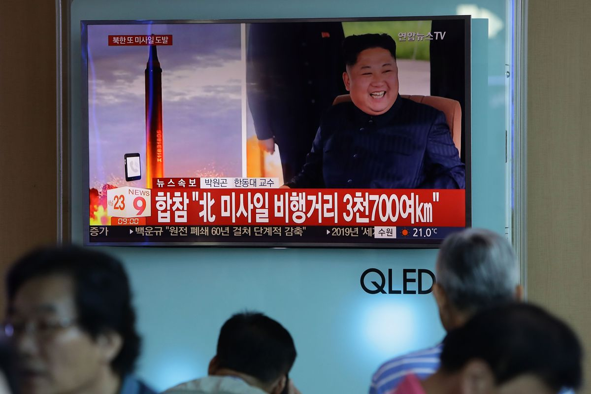 North Korea launched a missile over Japan last September. It seems North Korea is still improving its missile capabilities.