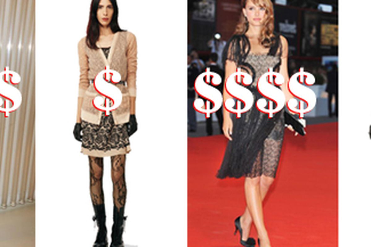 """Not quite as superlative as the real Rodarte, but also about $5,000 less. Images via <a href=""""http://www.vanityfair.com/online/style/2009/12/rodartes-for-target.html?utm_source=feedburner&amp;utm_medium=feed&amp;utm_campaign=Feed%3A+vanityfair%2Fvfd"""