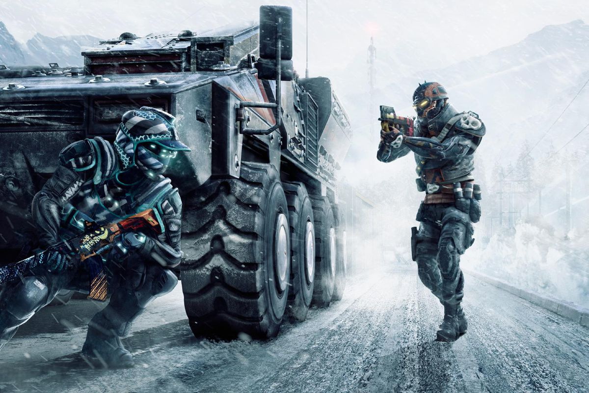 Two players from Warface: Breakout face off
