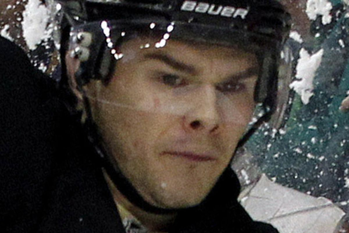 This weird face is going to the Olympics instead of Joe Thornton.
