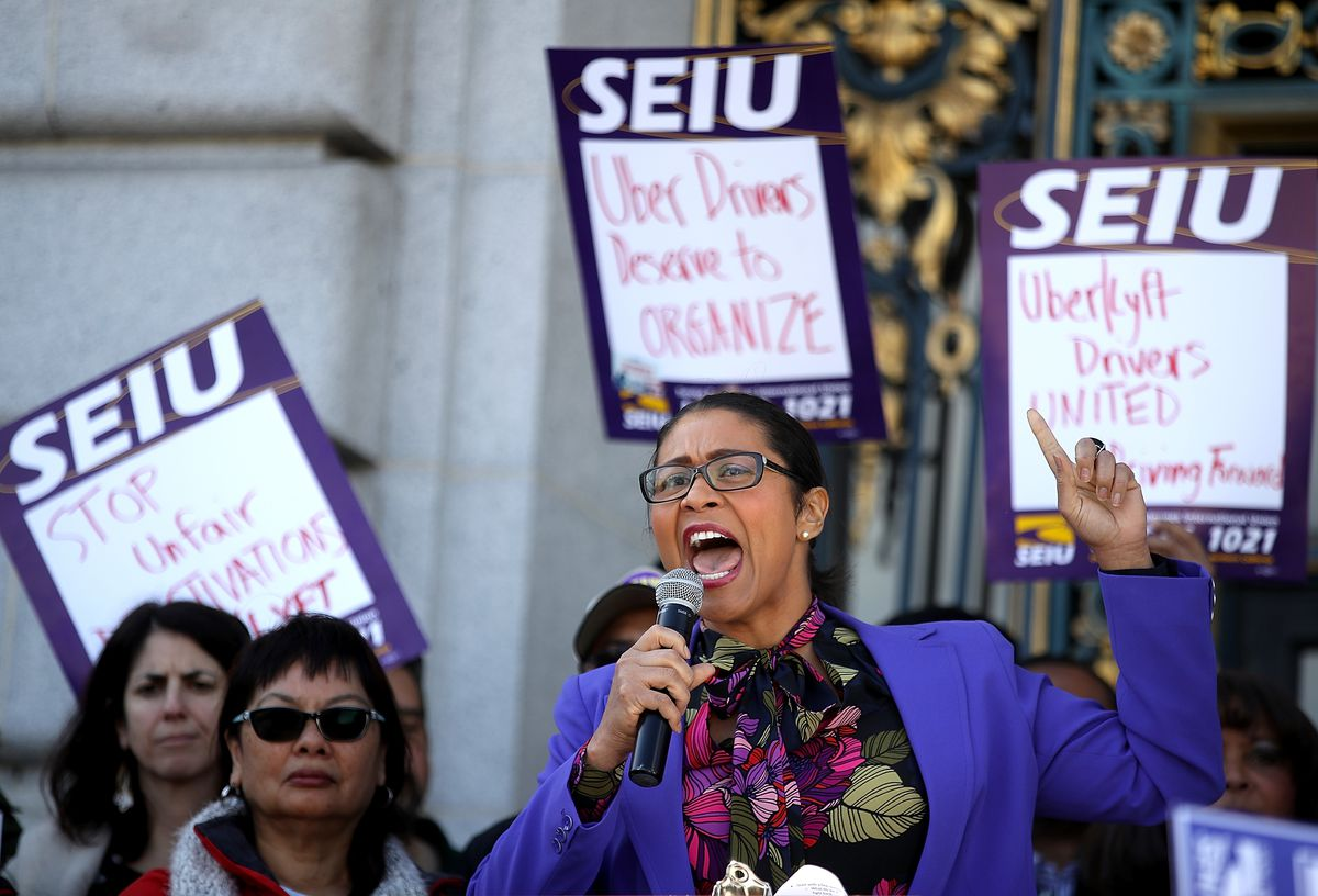 Rally At San Francisco City Hall As Supreme Court Hears Janus v AFSCME Case