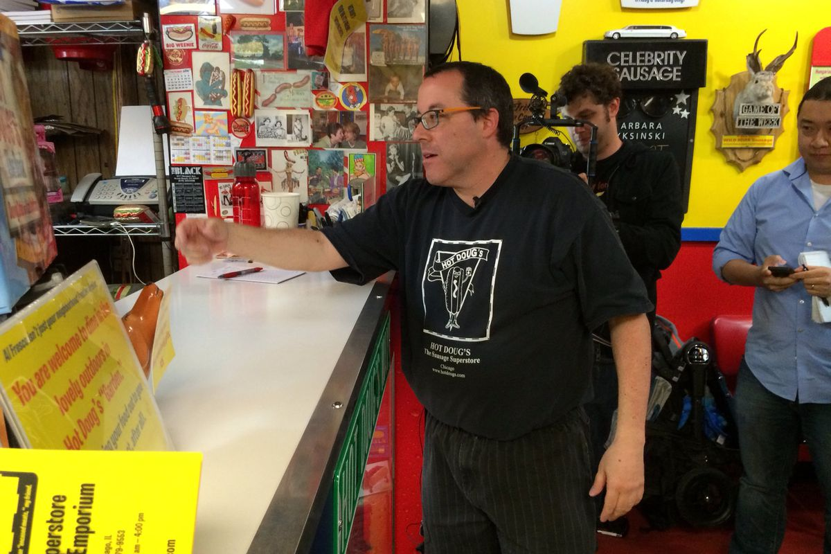 Doug Sohn placing the final order
