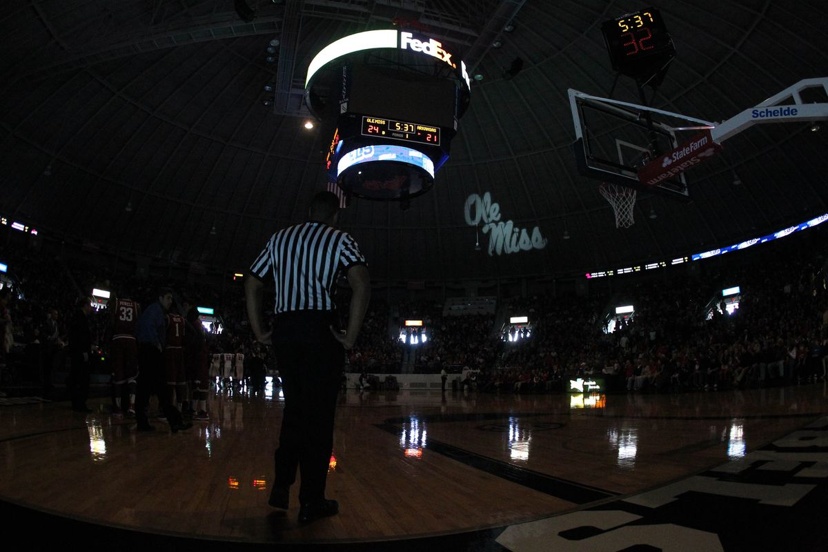 Like that time the lights went out during a game against Arkansas last season.