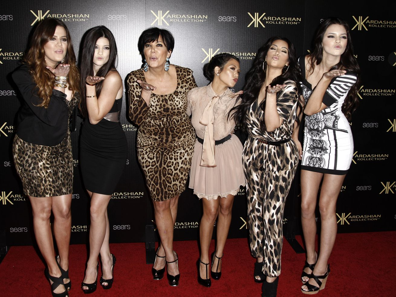 """Khloe Kardashian (from left), Kylie Jenner, Kris Jenner, Kourtney Kardashian, Kim Kardashian and Kendall Jenner arrive at the Kardashian Kollection launch party in Los Angeles in 2017. Their 20-season hit TV series """"Keeping Up with the Kardashians"""" is coming to an end."""