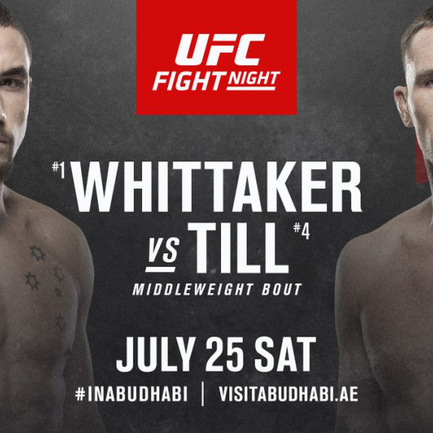 Latest Ufc On Espn 14 Fight Card Whittaker Vs Till Line Up For July 25 On Fight Island Mmamania Com