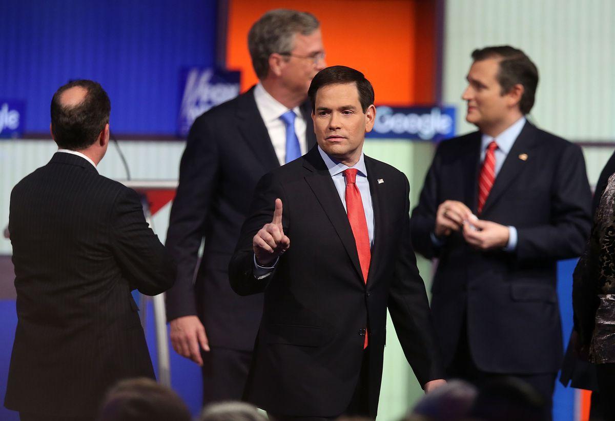 Marco Rubio pouty debate