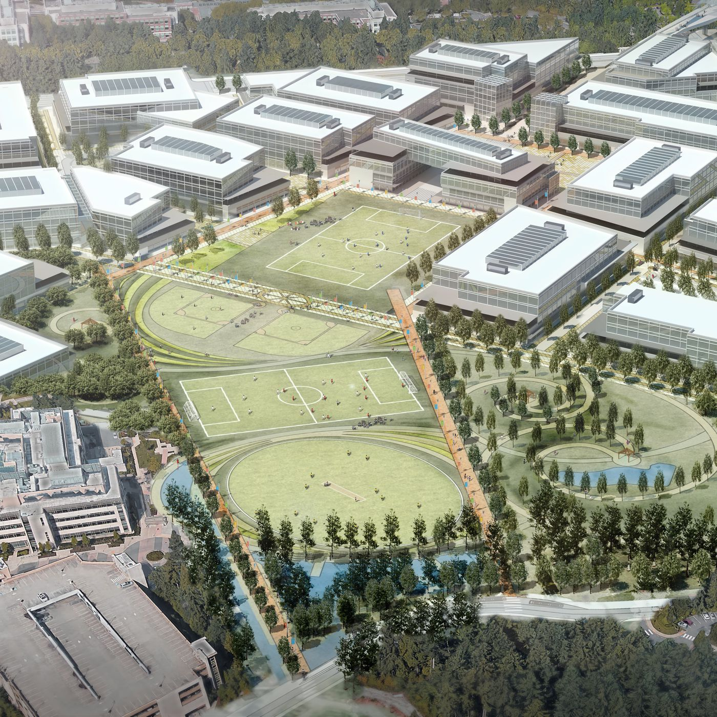 microsoft unveils plans for a new modern headquarters the verge