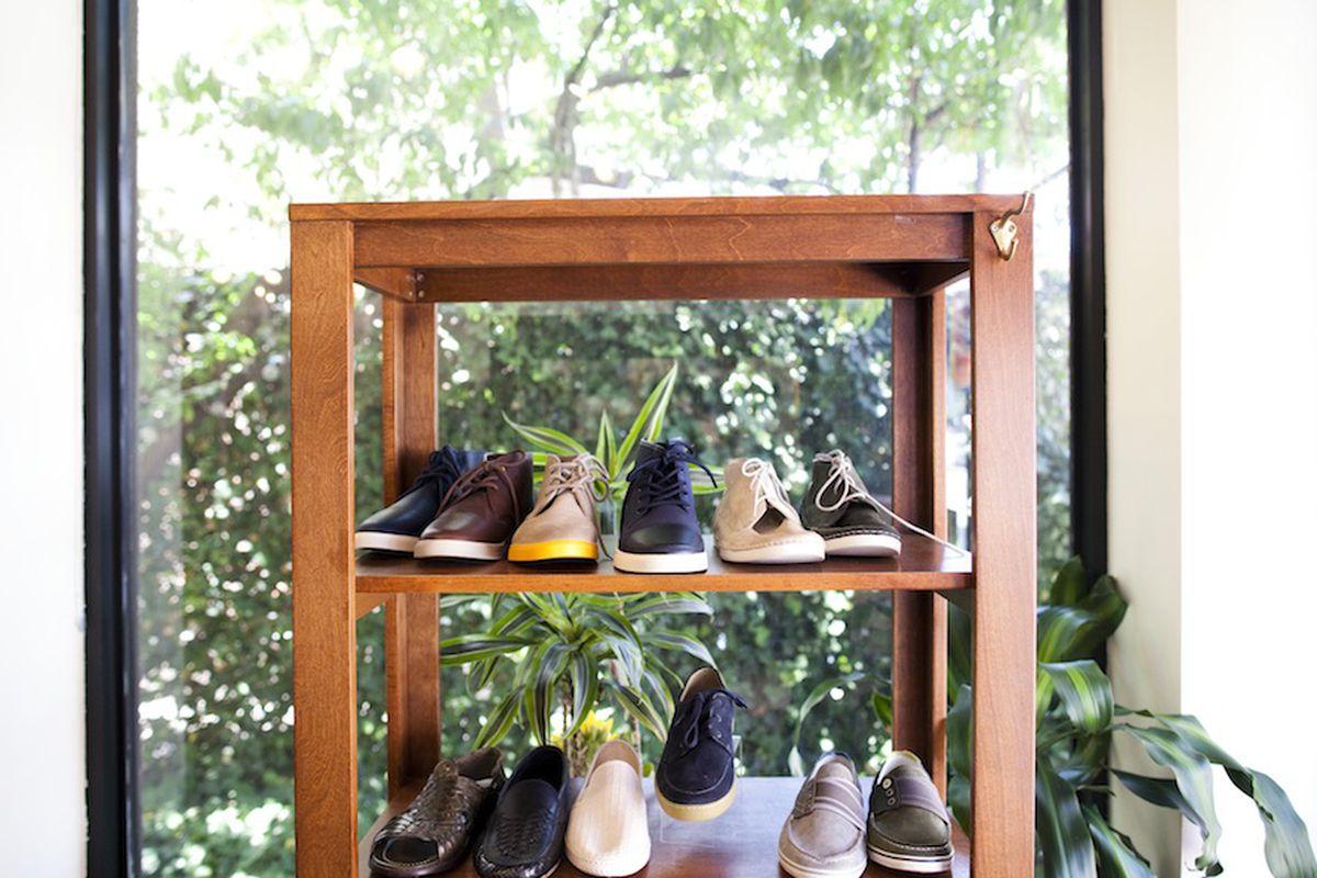 Inside Shoe Market. Photo by Brian Harkin