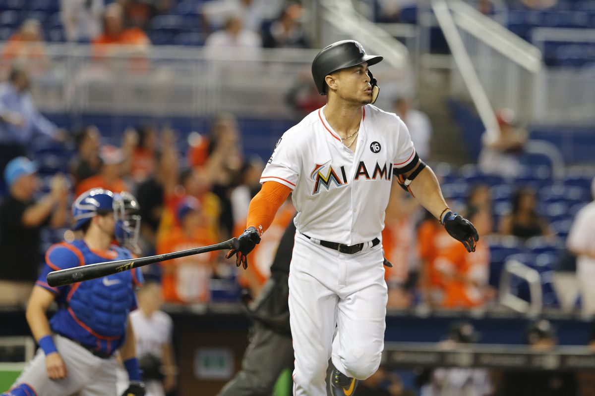 Giancarlo Stanton leads majors in HR and RBI