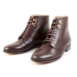 """A.P.C. 'Francoise' boots, <a href=""""http://uscheckout.apc.fr/browse.cfm/4,4485.html?nav=women&subnav=shoes"""">$495</a>"""