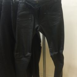 Leather trousers, $295 (from $1,525)