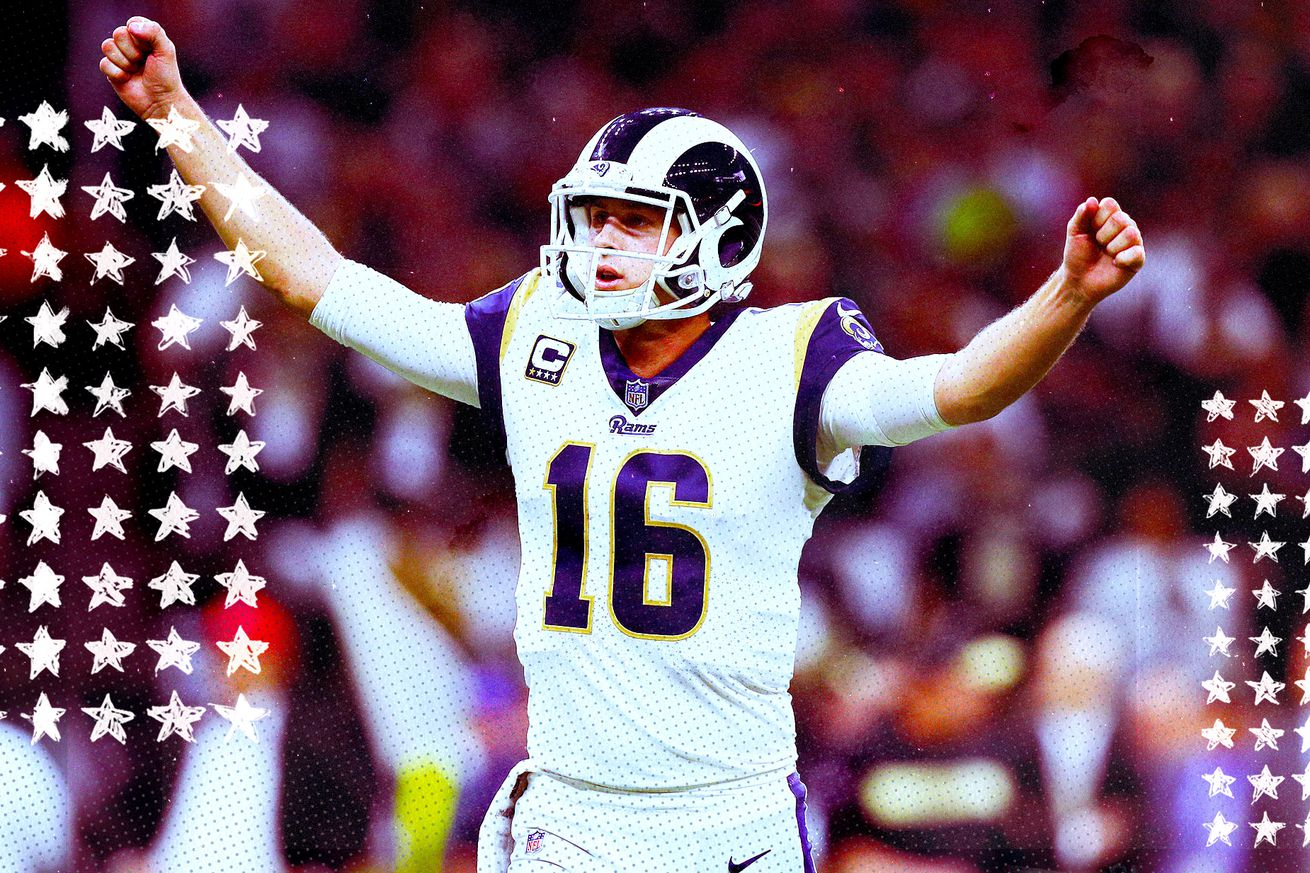 Goff.0 - Jared Goff will need to step up his postseason play to beat Tom Brady in Super Bowl 53