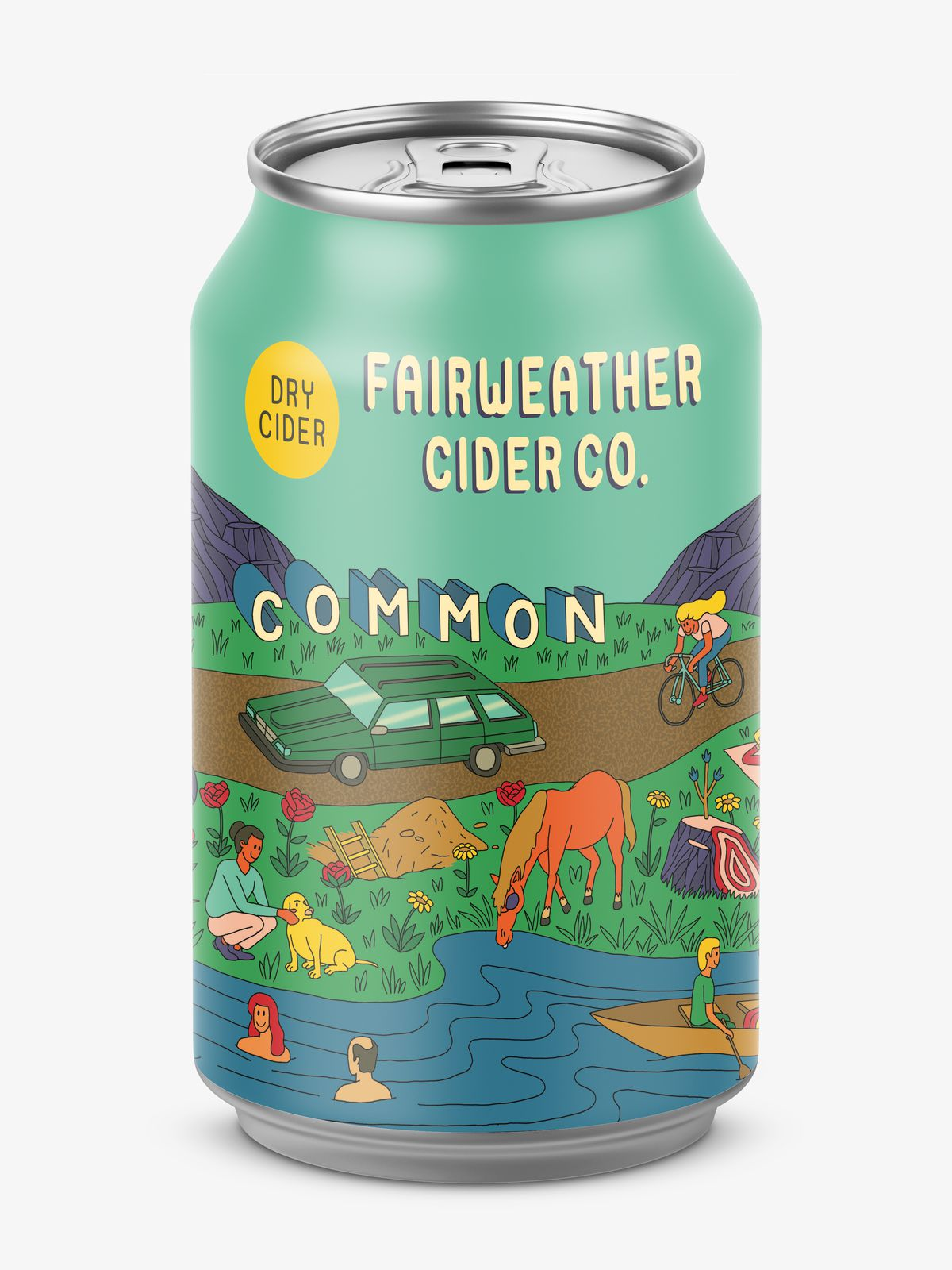 Fairweather Cider Co.'s Common cider can