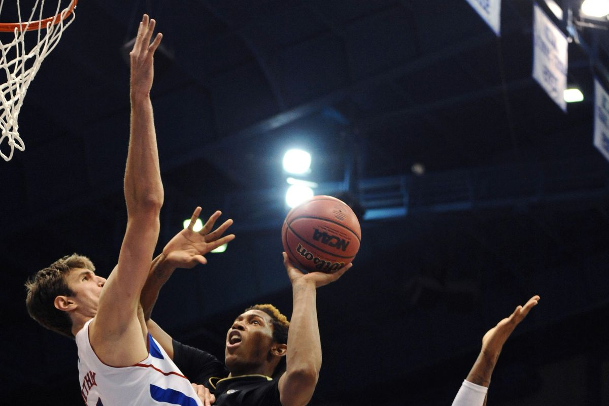 Kansas' Jeff Withey is in your game, blocking your shots.