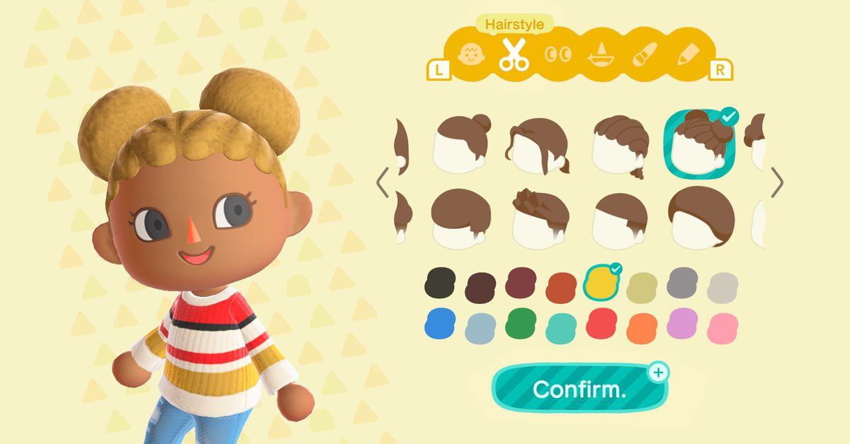 Animal Crossing New Horizons Gets New Hairstyles In Winter Update Polygon