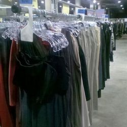 It looks like a lot, but don't be fooled: mostly tanks, a couple of long sleeved dresses, and odd pants and leggings. We didn't see any of the tees.