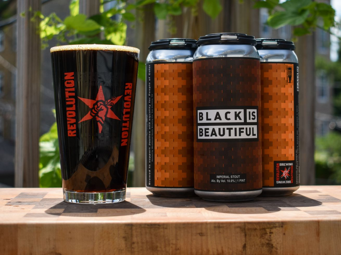 """""""Black is Beautiful"""" beer is available from 27 local brewers/tap rooms, including Revolution Brewing's brewpub on Milwaukee Avenue."""