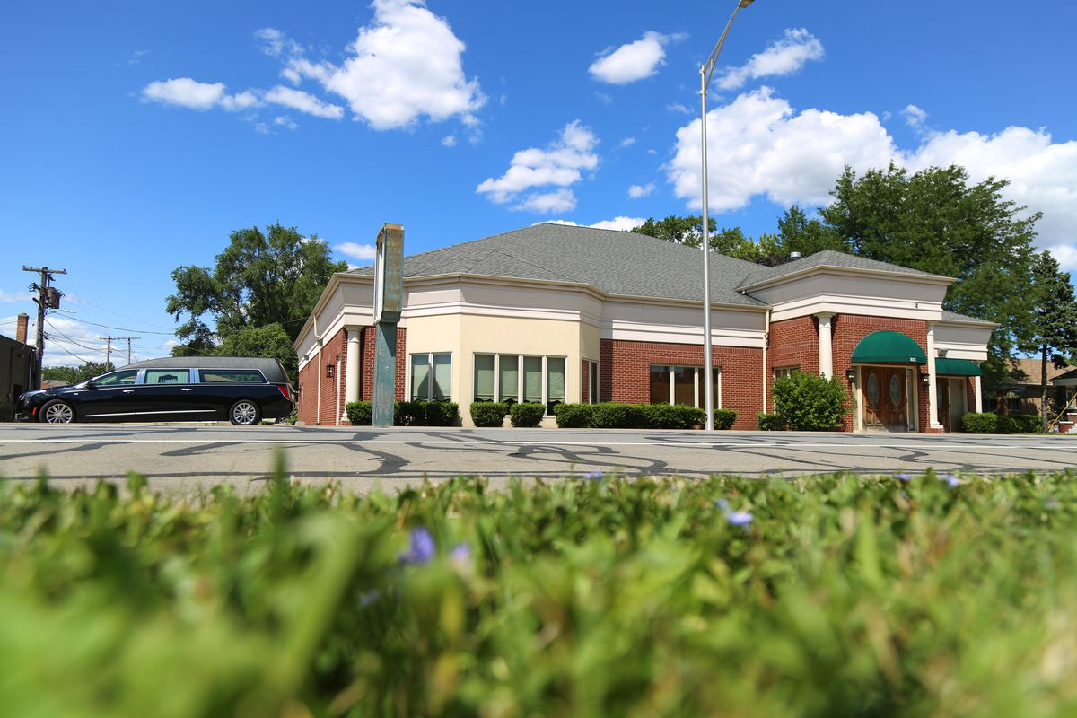 This long-vacant funeral home at 1001 Madison St in Maywood had nearly $1.5 million in unpaid property taxes erased by the Cook County Land Bank Authority to make the property more attractive to a new buyer who plans to operate a funeral home there.