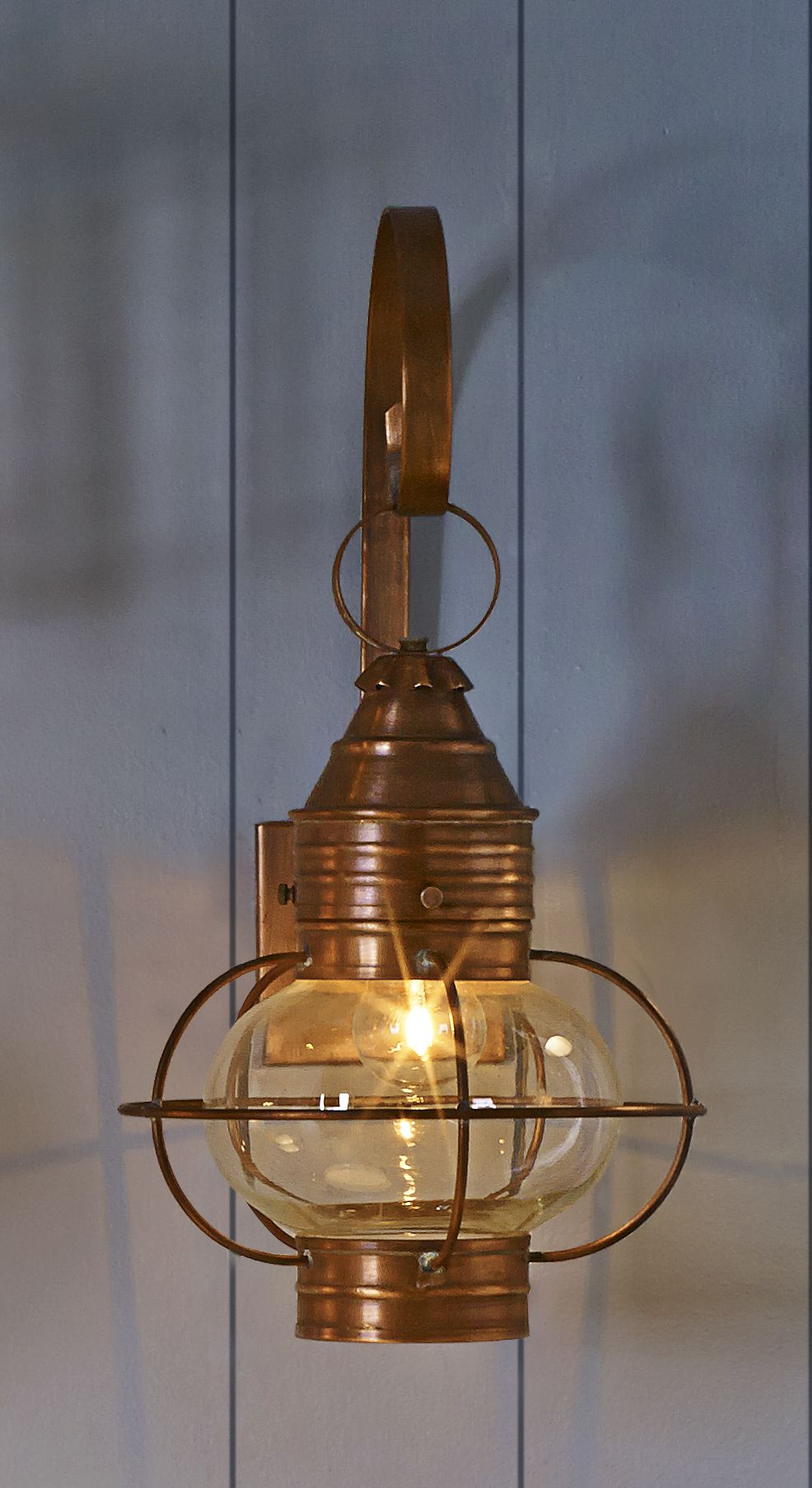 Colonial Copper Onion Lantern