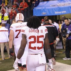 Melvin Gordon heads into the tunnel following the badger's loss