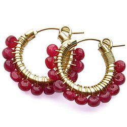 """Viv & Ingrid ruby hoop earrings, <a href=""""http://www.vivandingrid.com/productcart/pc/-75-ruby-Wrap-Hoop-JULY-BS19-832p1755.htm"""">$118</a>"""