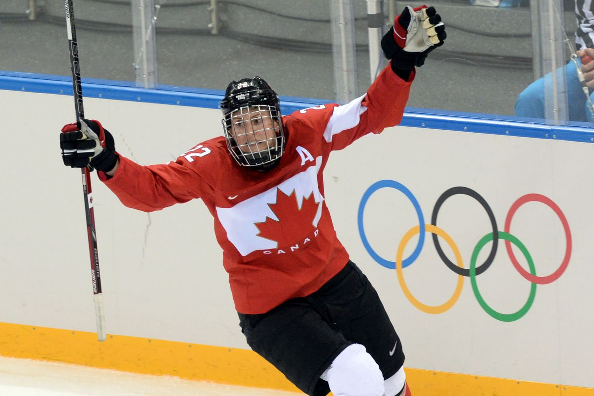 Hayley Wickenheiser is one of the most visible and legendary players in the women's game and will be speaking today about pay equality for women's hockey players with her US National Team rivals.