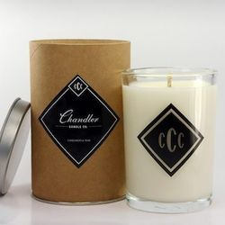 At last, a calorie-free treat. Chandler Candle Company has candles in spicy, autumnal scents such as cardamom-teak..
