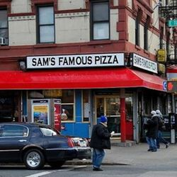 <b>Sam's Famous Pizza</b>: Sam may be less famous than his downtown friends Ray, Roy and Ben, but up in Harlem, he is pizza king.