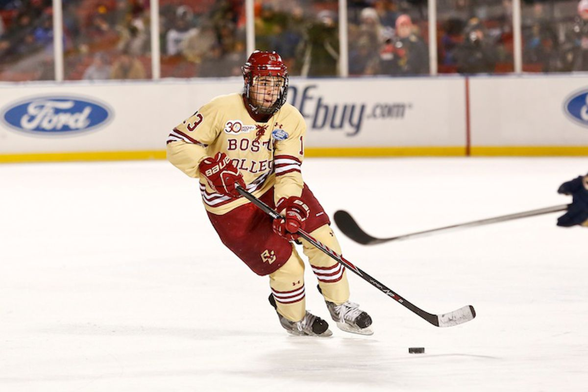 Johnny Gaudreau led Boston College to an easy first round win over Denver