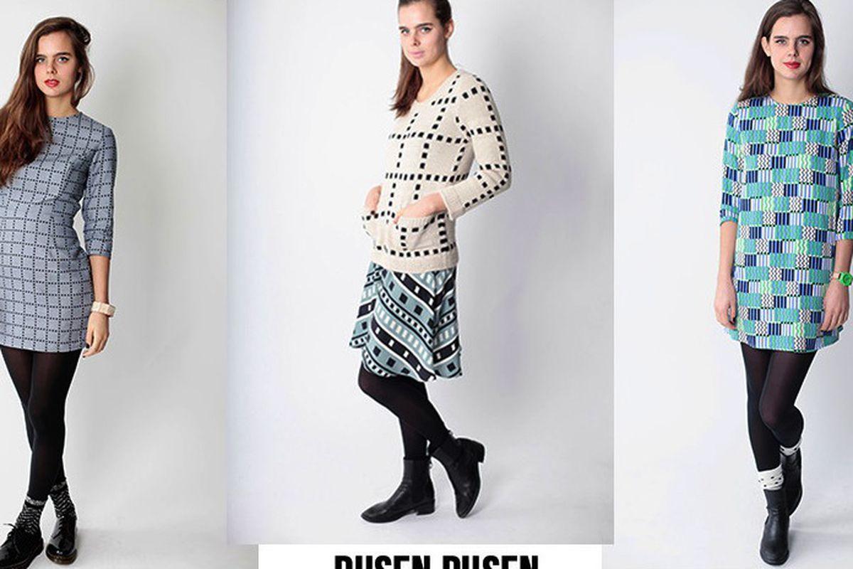 "Three Dusen Dusen looks from the O.N.A. <a href=""http://onanyc.com/"">website</a>"