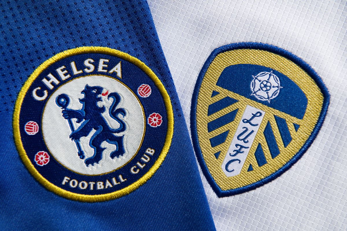 The Chelsea and Leeds United Club Badges...