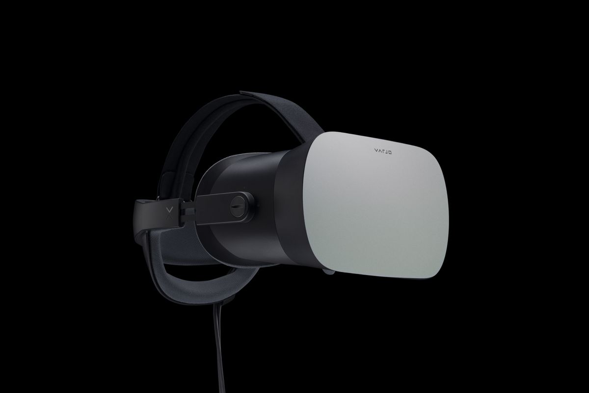 The Varjo VR-1 headset uses two screen types for super high