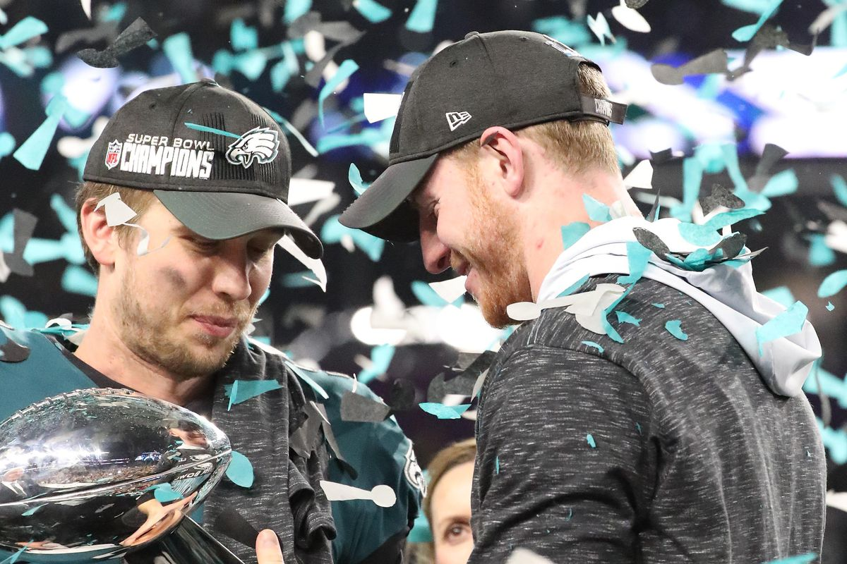Eagles News Nick Foles Wants Carson Wentz To Succeed Even At The Expense Of Me Not Playing Bleeding Green Nation