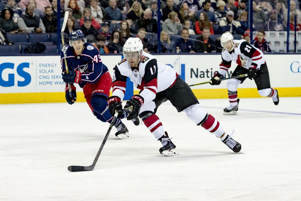 NHL: DEC 09 Coyotes at Blue Jackets