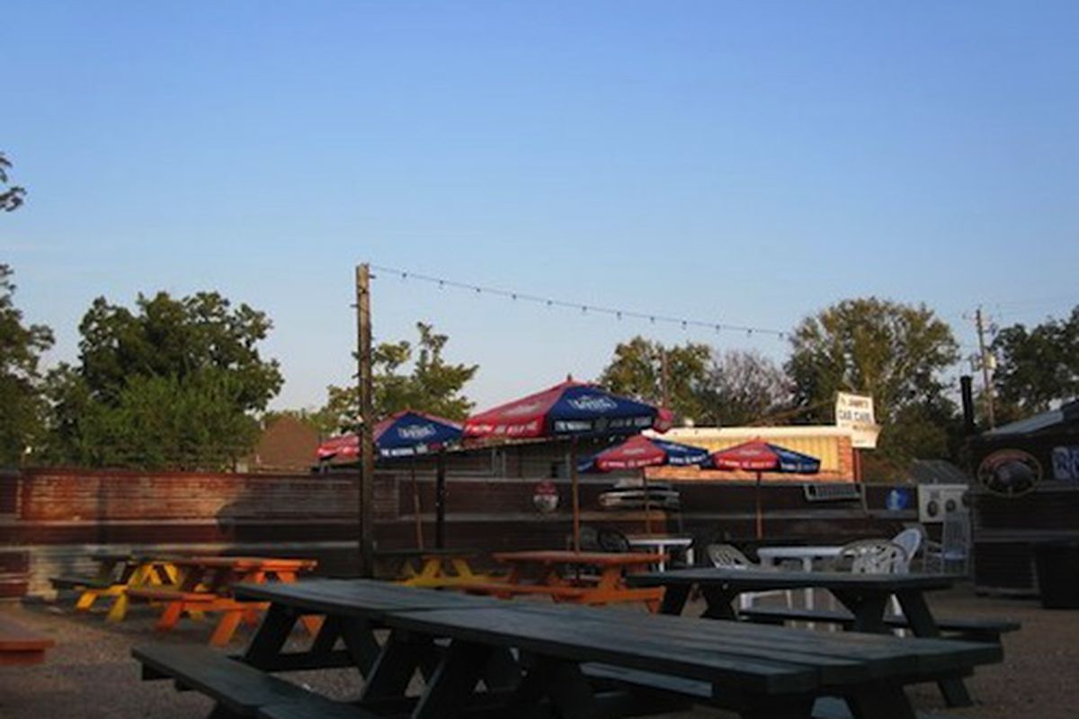 The backyard at Hubcap Grill