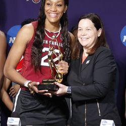2018 Wade Trophy winner A'ja Wilson (South Carolina)