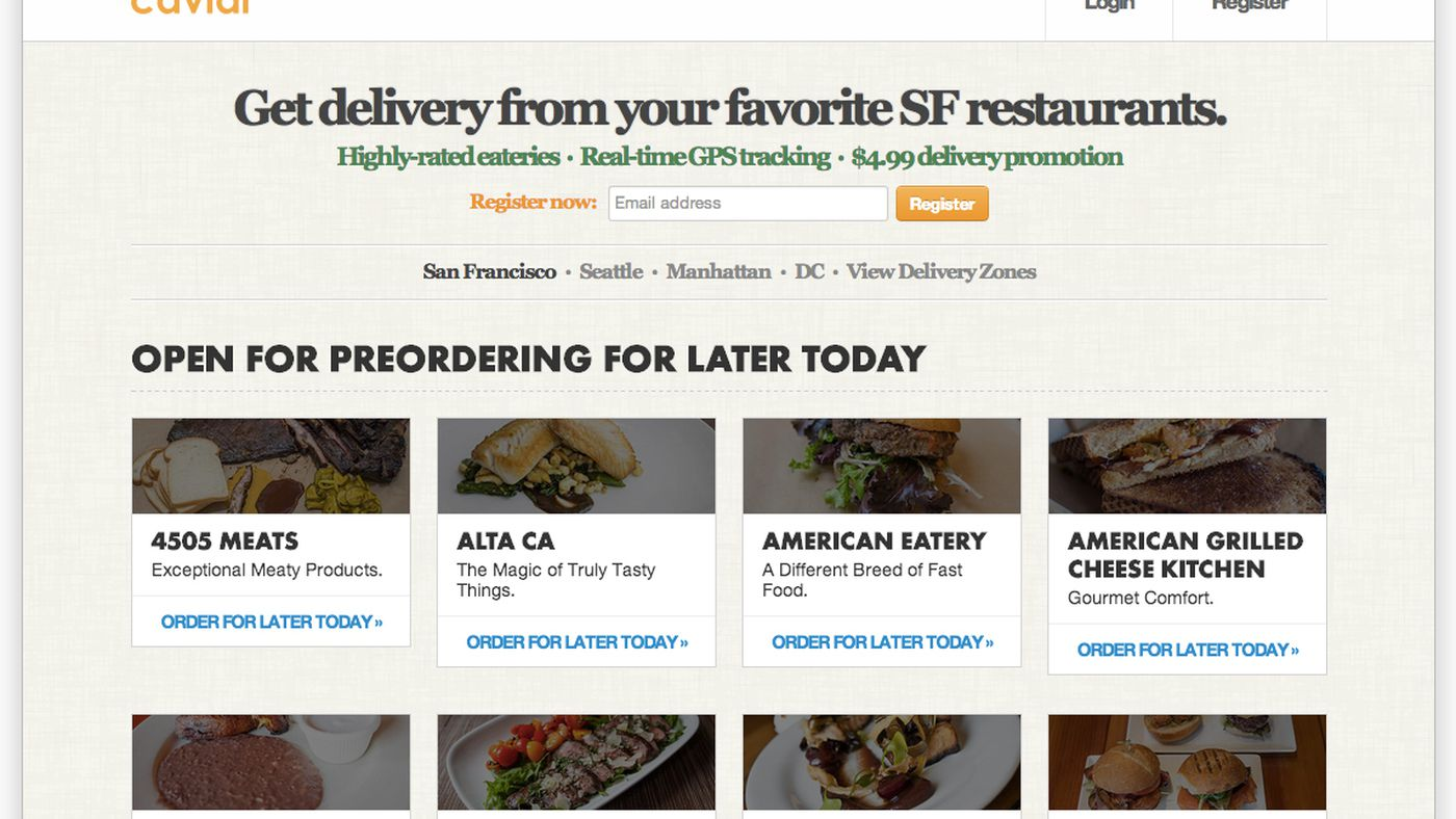 Delivery Service Caviar Raises $13M for Expansion - Eater