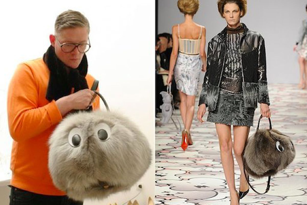 """Images via <a href=""""http://www.refinery29.com/giles-decapitated-cartoon-animal-karl-lagerfelds-bib-and-burberry-is-the-clothing-equivilent-of-a-co.php"""">Refinery29</a>, left, and <a href=""""http://www.wwd.com"""">WWD</a>, right."""