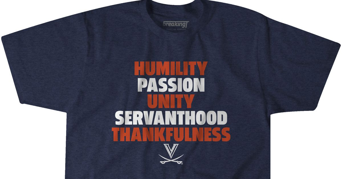 Virginia Basketball New Five Pillars Tshirt For Sale Streaking The Lawn