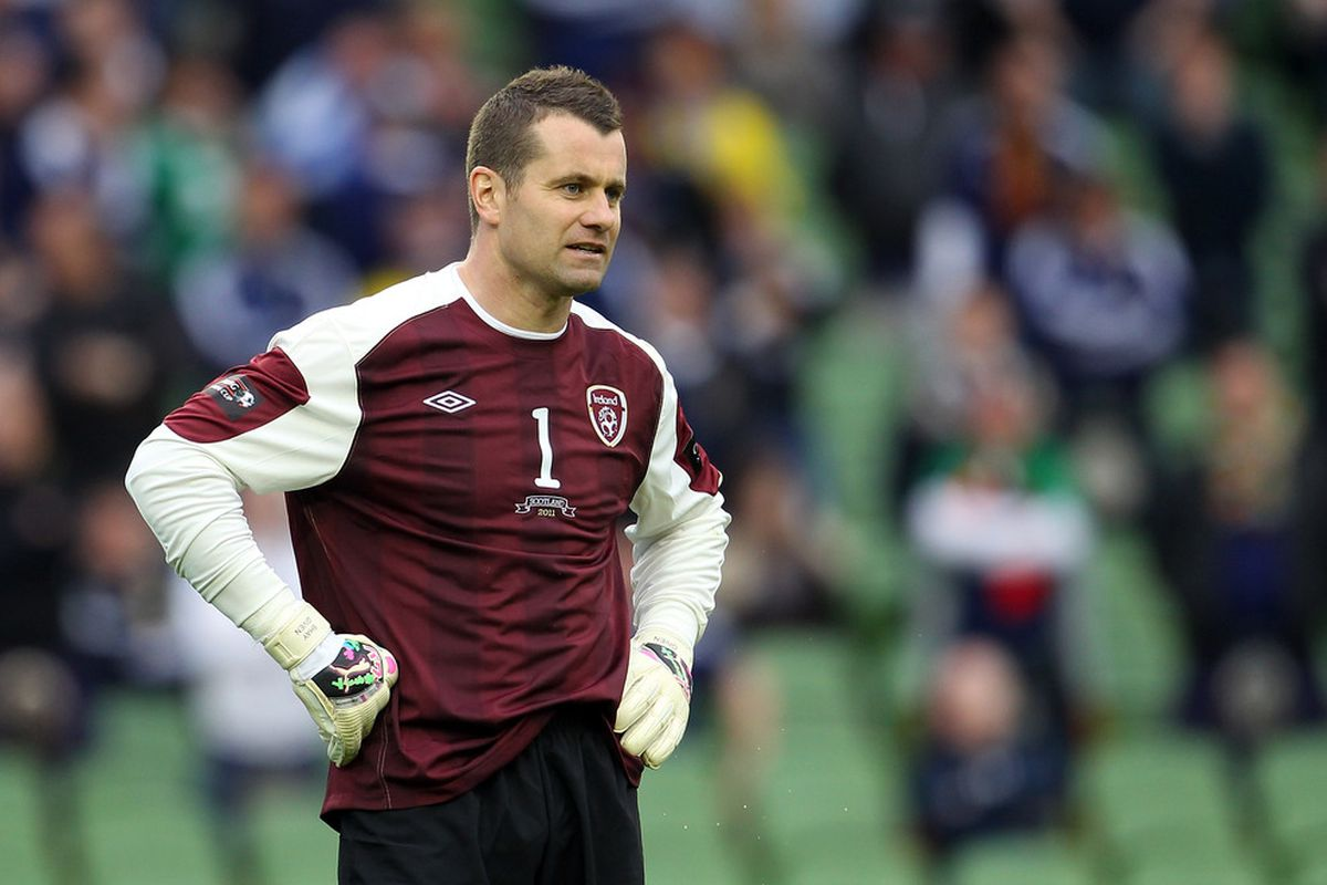 DUBLIN, IRELAND - MAY 29:  Shay Given of Republic of Ireland looks on during the Carling Nations Cup match between Republic of Ireland and Scotland at the Aviva Stadium on May 29, 2011 in Dublin, Ireland.  (Photo by Julian Finney/Getty Images)
