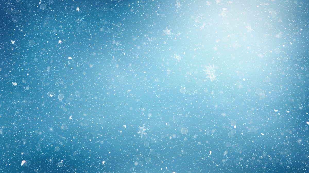 a snowy, abstract sky