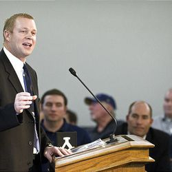 12FTB Signing Day 055.CR2  12FTB Signing Day February 1, 2012  BYU Head Football Coach Bronco Mendenhall speaks to the BYU Cougar Club at Lavell Edwards Stadium during National Signing Day.  Photo by Jaren Wilkey/BYU  ? BYU PHOTO 2012 All Rights Reserved photo@byu.edu  (801)422-7322