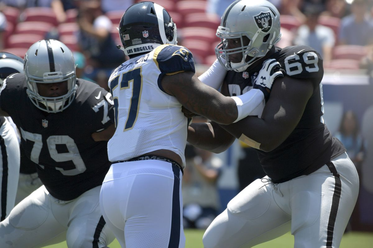 51c7de137 NFL: Oakland Raiders at Los Angeles Rams Jylan Ware (69) Kirby Lee-USA  TODAY Sports